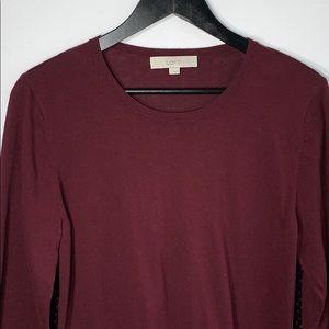 Loft Women's Red Long Sleeve Blouse